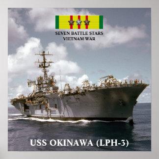 VAN USS OKINAWA (LPH-3) HET POSTER