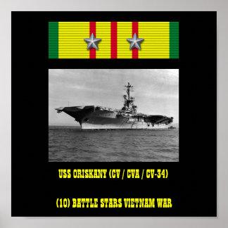 VAN USS ORISKANY (CV/CVA/CV-34) HET POSTER