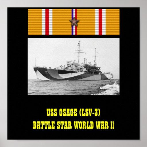 VAN USS OSAGE (LSV-3) HET POSTER