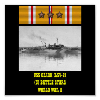 VAN USS OZARK (LSV-2) HET POSTER