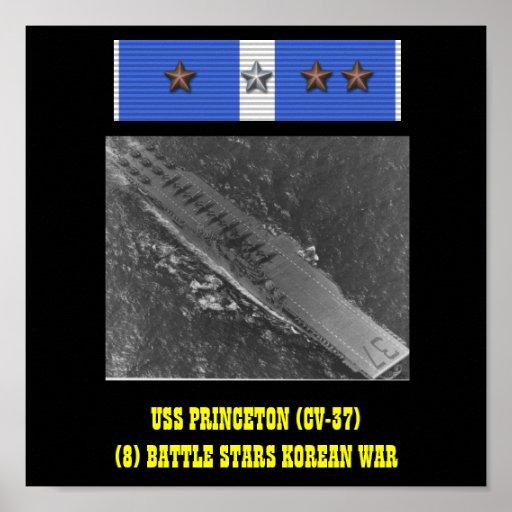 VAN USS PRINCETON (CV-37) HET POSTER