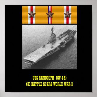 VAN USS RANDOLPH (CV-15) HET POSTER