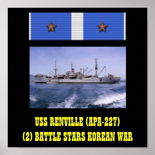 VAN USS RENVILLE (APA-227) HET POSTER