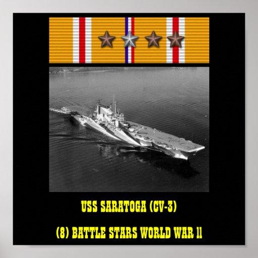 VAN USS SARATOGA (CV-3) HET POSTER