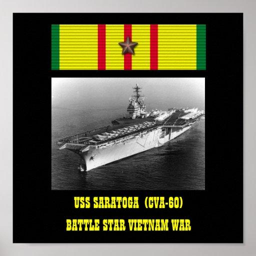 VAN USS SARATOGA   (CVA-60) HET POSTER