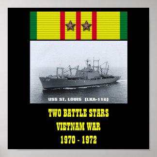 VAN USS ST.LOUIS (LKA-116) HET POSTER