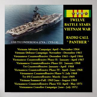 VAN USS TICONDEROGA (CVA/CVS-14)   HET POSTER