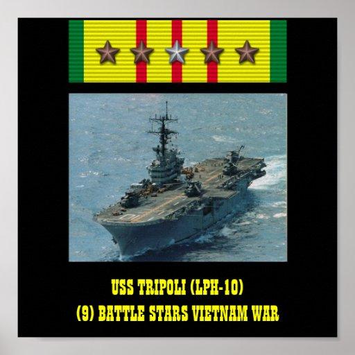 VAN USS TRIPOLI (LPH-10) HET POSTER