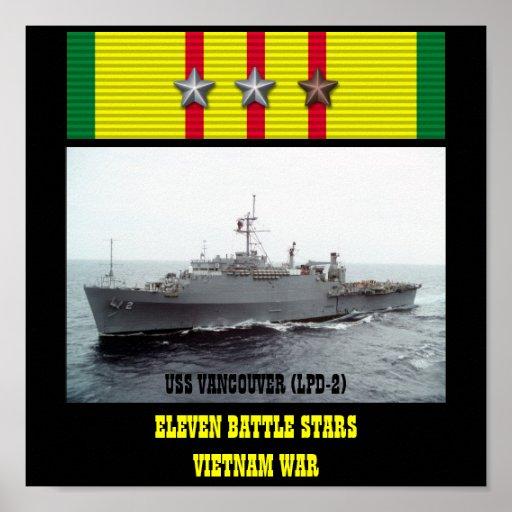 VAN USS VANCOUVER (LPD-2) HET POSTER