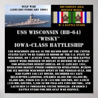 VAN USS WISCONSIN (BB-64) HET POSTER