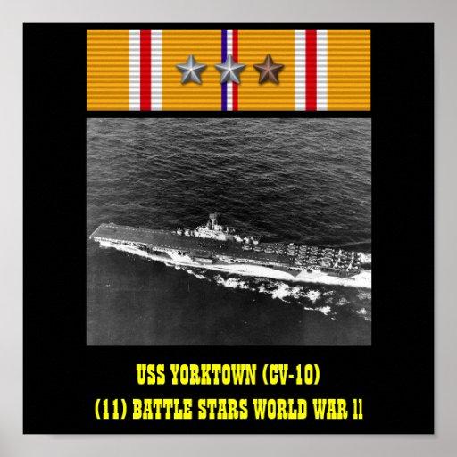 VAN USS YORKTOWN (CV-10) HET POSTER