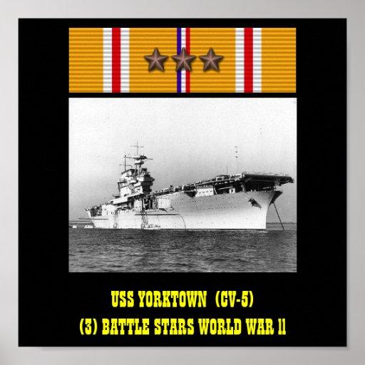 VAN USS YORKTOWN (CV-5) HET POSTER