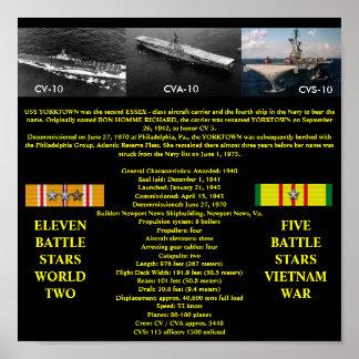 VAN USS YORKTOWN (CV/CVA/CVS-10) HET POSTER