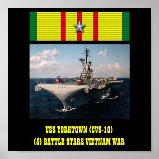 VAN USS YORKTOWN (CVS-10) HET POSTER