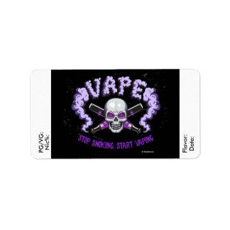 Vape | e-Sap DIY Paarse Schedel van het Etiket