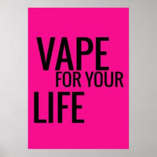 Vape noir rose fluorescent pour votre affiche de