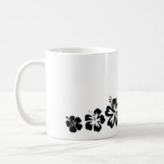 Variété de tasse de conception de noir de fleurs