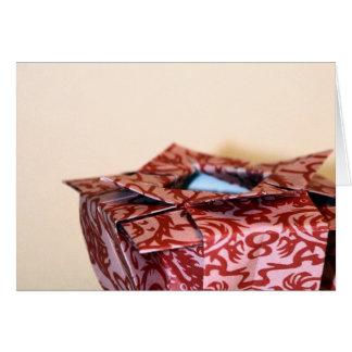 Vase à origami carte
