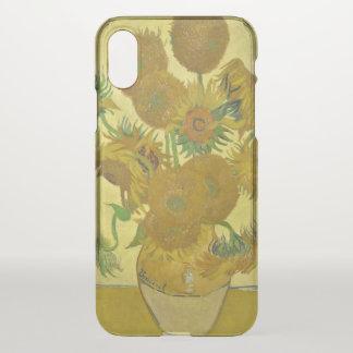 Vase à Van Gogh avec quinze tournesols GalleryHD Coque iPhone X
