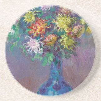 Vase de chrysanthèmes Claude Monet Dessous De Verre