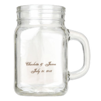 Vase en verre de boissons de pot de maçon de