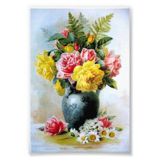 Vase vintage de roses photographe
