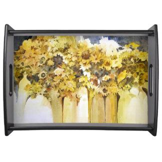 Vases de plateau de fleurs