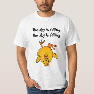 VE grappig is de hemel dalend kippenoverhemd T Shirt