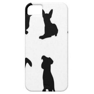Vector de silhouettenontwerp van de hond iPhone 5 cases
