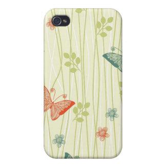 vector het speckhoesje van vlindersiphone 4/4s iPhone 4/4S cover