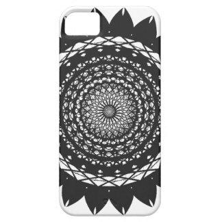 Vector Kunst Zonnebloem zwarte iPhone 5 Hoesjes