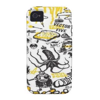 Vector pakontwerp vibe iPhone 4 case