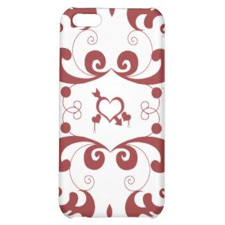 Vector patroon met hart iPhone 5C cases