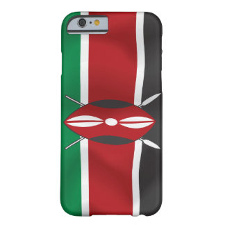 Vector Vlag van Kenia Barely There iPhone 6 Hoesje
