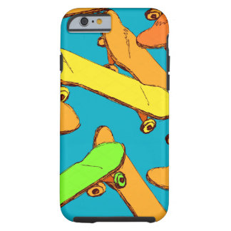 Vectoren van het Patroon van het skateboard de Tough iPhone 6 Hoesje