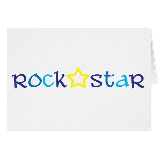 Vedette du rock cartes de vœux