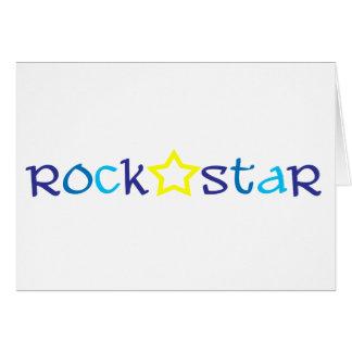 Vedette du rock carte de vœux