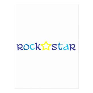 Vedette du rock carte postale