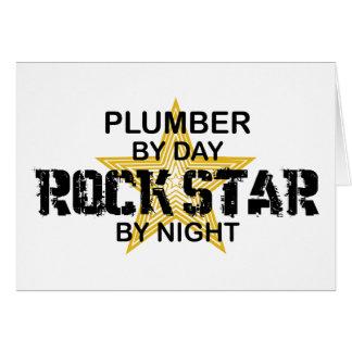 Vedette du rock de plombier par nuit carte