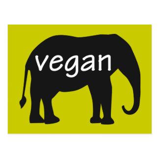 Veganist (in een olifantsontwerp) wens kaarten