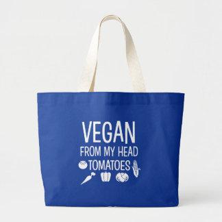 Veganist van mijn hoofd grappige zak van Tomaten Grote Draagtas