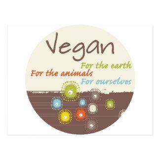 Veganist voor een Kleding en de Giften van de Briefkaart