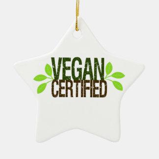 Végétalien certifié ornement étoile en céramique