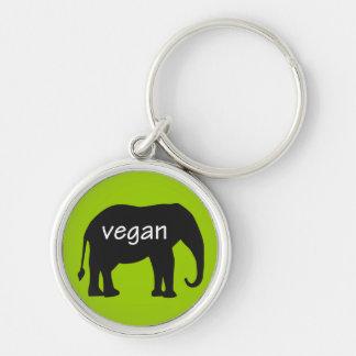 Végétalien (dans une conception d'éléphant) porte-clés