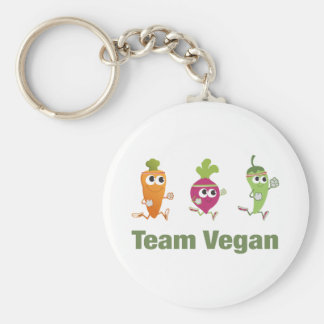 Végétalien d'équipe porte-clés