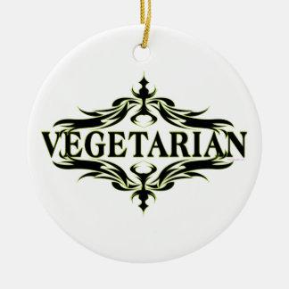 Végétarien Ornement Rond En Céramique