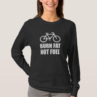 Vélo de carburant de graisse de brûlure pas t-shirt