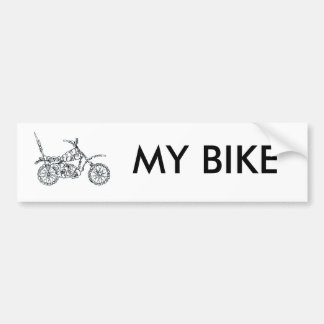 Vélo de moteur, fait de visages autocollant de voiture