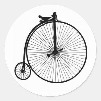 Vélo noir de cru de quart de penny de penny adhésifs