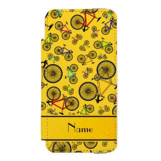 Vélos jaunes nommés personnalisés de route coque-portefeuille iPhone 5 incipio watson™